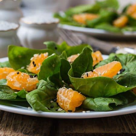Spinach Madaring Orange Salad